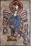 Manuscript Illumination Prints - Book Of Kells: St John Print by Granger