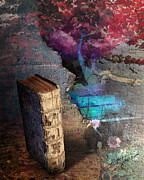 Photomanipulation Digital Art Prints - Book Of Secrets Print by Pavlos Vlachos
