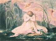 William Blake Paintings - Book of Thel by William Blake