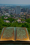 Montreal Streets Metal Prints - Book With A View Metal Print by Mike Horvath