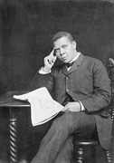 Booker T. Photo Framed Prints - Booker T. Washington 1856-1915, African Framed Print by Everett