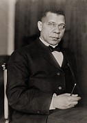 Jim Crow South Prints - Booker T. Washington 1856-1915, Became Print by Everett