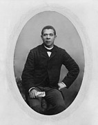 Booker T. Washington Framed Prints - Booker T. Washington 1856-1915,  Ca Framed Print by Everett