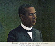 Booker T. Washington Framed Prints - Booker T. Washington, Detail Framed Print by Everett