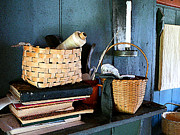 Basket Art - Books and Baskets by Susan Savad