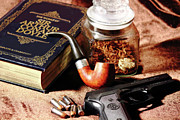 Books And Bullets Print by Barry Jones