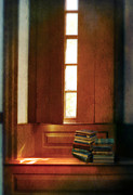 Window Seat Posters - Books on a Window Seat Poster by Jill Battaglia