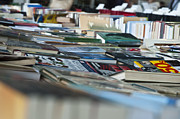 Printed Photo Originals - Books on table at book market by Magdalena Warmuz-Dent