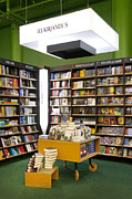 Bookcase Prints - Bookstore Section Print by Jaak Nilson