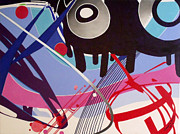 Reflections Mixed Media Originals - Boom Box by Wayne Devon