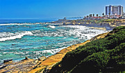 La Jolla Art Prints - Boomers Beach La Jolla Print by Russ Harris