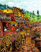 Boom Paintings - Boomtown 1888 by Phil Strang