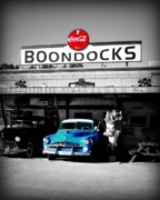Old Drive In Posters - Boondocks Poster by Perry Webster