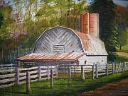 North Carolina Barn Posters - Boone Barn Poster by Shirley Braithwaite Hunt