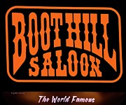 Boot Posters - Boot Hill Saloon Sign Poster by DigiArt Diaries by Vicky Browning