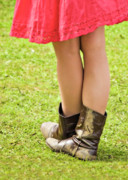 Dancing Girl Photo Posters - Boot Scootin Poster by Meirion Matthias