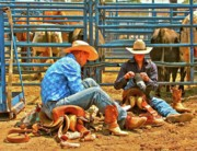 Cowboys Photos - Boot Up by Gus McCrea