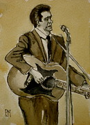 Guitar Player Prints - Bootleg Johnny Print by Pete Maier