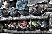 Cowboy Boots Art - Boots and Butts by Heather Swan