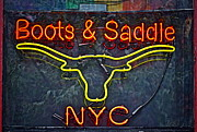 Boots Posters - Boots and Saddle NYC Poster by Gwyn Newcombe