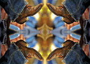 Foot Wear Prints - Boots Kaleidoscope Print by Joan Carroll