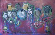 Music Paintings - Bop Skizzum Live by Laurie Maves