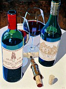 Virginia Wine Art Prints - Bordeaux Selections Print by Christopher Mize