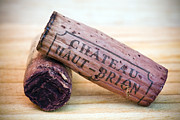 Wines. Red Wine Prints - Bordeaux Wine Corks Print by Frank Tschakert
