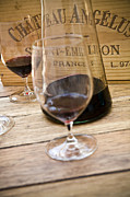 Glass Photo Posters - Bordeaux Wine Tasting Poster by Frank Tschakert