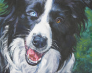 Border Painting Prints - Border Collie Print by Lee Ann Shepard