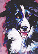 Collie Painting Framed Prints - Border Patrol Framed Print by Lea