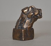 Border Sculptures - Border Terrier by Edward  Waites