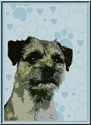 Border Terrier Digital Art Posters - Border Terrier Poster by One Rude Dawg Orcutt