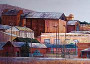 Universities Pastels Prints - Borderland Mills Print by Candy Mayer