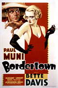 1930s Poster Art Posters - Bordertown, Paul Muni, Bette Davis Poster by Everett