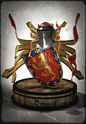 Frederico Borges Digital Art Prints - Borges family Coat of Arms Print by Frederico Borges