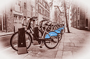Boris Framed Prints - Boris Bikes Framed Print by Donald Davis