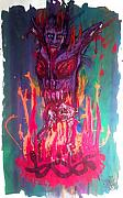 Satan Drawings - Born of Fire by Sam Hane