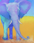 Elephants Prints - Born of Wisdom Print by Tracy L Teeter