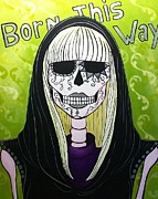 Lady Gaga Paintings - Born this way  by John S Huerta