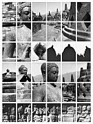 Statue Portrait Photo Posters - Borobudur in frame Poster by Mario Bennet