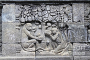 Stone Carvings Prints - Borobudur Mahayana Buddhist Temple Print by Mark Taylor