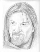 Lord Drawings Metal Prints - Boromir Metal Print by Amy Jones