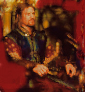 Actors Mixed Media Prints - Boromir Print by Janice MacLellan
