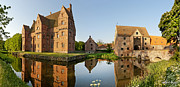 Moated Castle Prints - Borreby Castle Print by Robert Lacy