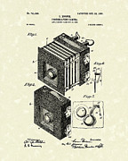 Optical Art Drawings Posters - Borsum Photographic Camera 1903 Patent Art Poster by Prior Art Design