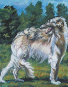 Sighthound Framed Prints - Borzoi Framed Print by Lee Ann Shepard