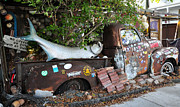 Junk Posters - B.O.s Fish Wagon - Key West Florida Poster by Bill Cannon