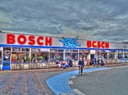 Village By The Sea Prints - Bosch Print by Barry R Jones Jr