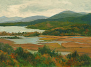 Constitution Paintings - Boscobel Fall Colors by Phyllis Tarlow